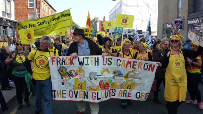 The irrepressible Frack Free Lancashire, a residents group that formed to campaign against fracking in their community